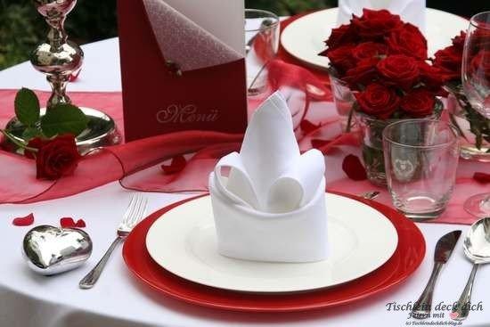 Tischdeko Heiratsantrag Candlelight Dinner Tischlein Deck Dich