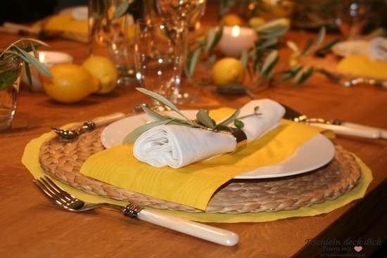 Italienische Tischdeko Tischdekoration Toskana Tischlein Deck Dich