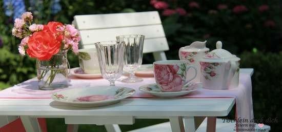Rosige zeiten tischlein deck dich for Tischdeko garten